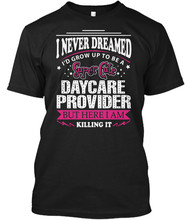 Daycare Provider Popular Tagless Tee T-Shirt(China)
