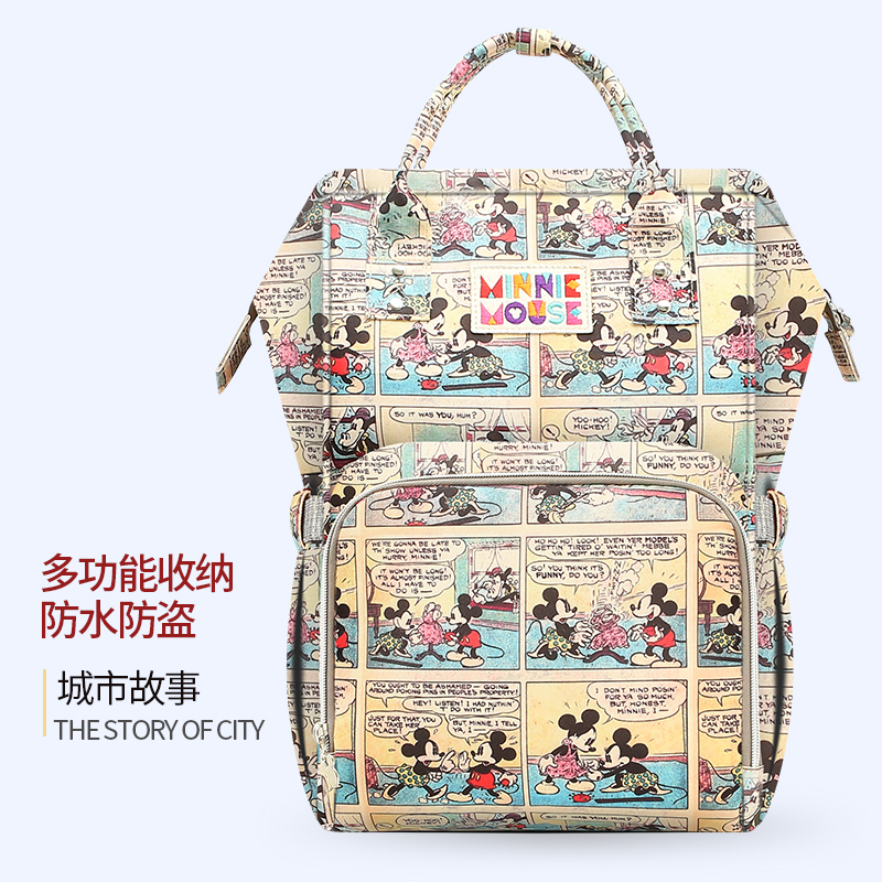 Disney backpack Mummy diaper bags Milk Bottle Insulation Bags Nappy Stroller Bag Waterproof Diaper Bag with