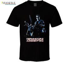 Terminator 2 Judgement Day Arnold Schwarzenegger Movie T-Shirt 100% Cotton Brand New T Shirts