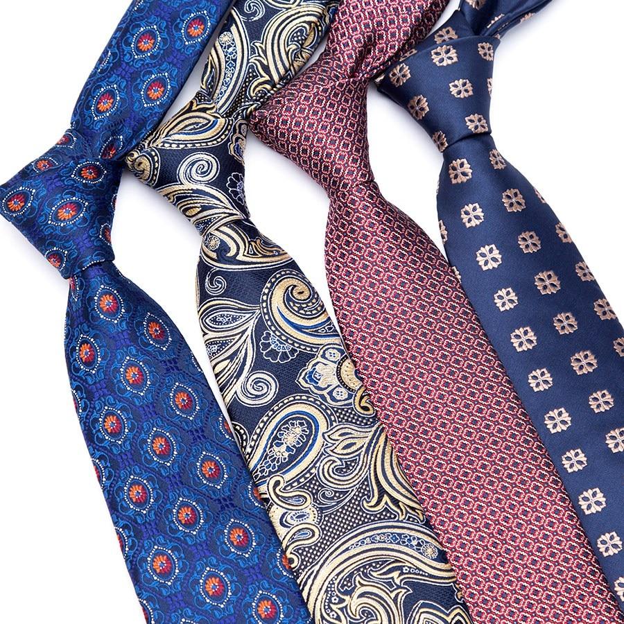 Men Luxury Tie Formal For Ties Jacquard Woven Plaid Necktie Wedding Bowtie Man Business Shirt Accessories Corbatas Para Hombre