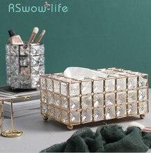 Licht Luxus Gold überzogene Schmiedeeisen Tissue Box Wohnzimmer Lagerung Tablett Serviette Halter Box Für Kreative Desktop Dekoration