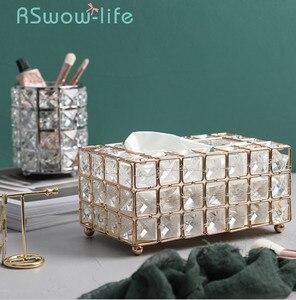 Image 1 - หรูหราทองWrought Ironกล่องกระดาษทิชชูห้องนั่งเล่นถาดผ้าเช็ดปากผู้ถือกล่องสำหรับเดสก์ท็อปตกแต่ง