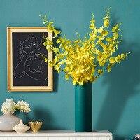 Nordic Decoration Home Ceramics Vase for Flower Blue Vase Jarrones Decorativos Moderno Home Decoration Accessories Modern