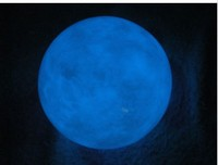 blue Luminous ball shape natural green calcite glowing pearl stones Lucky Stone in the dark Bring good luck
