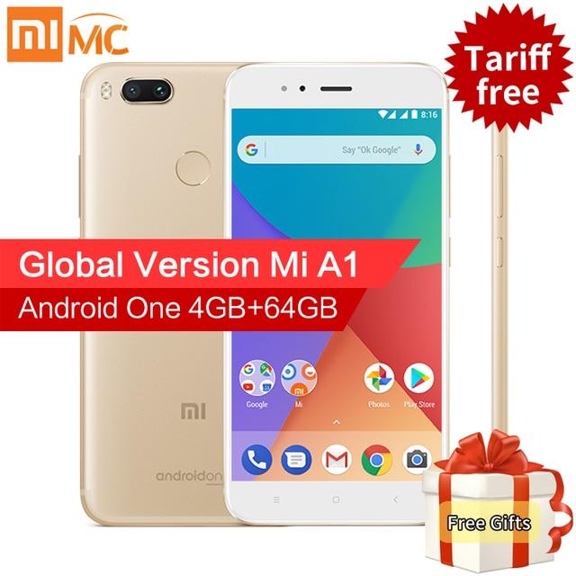 """Глобальная версия Сяо Mi Ми A1 4 ГБ 32 ГБ Смартфон Snapdragon 625 Octa Core 5.5 """"FHD Дисплей двойной камеры 12MP + 12MP Android 7.1.2"""