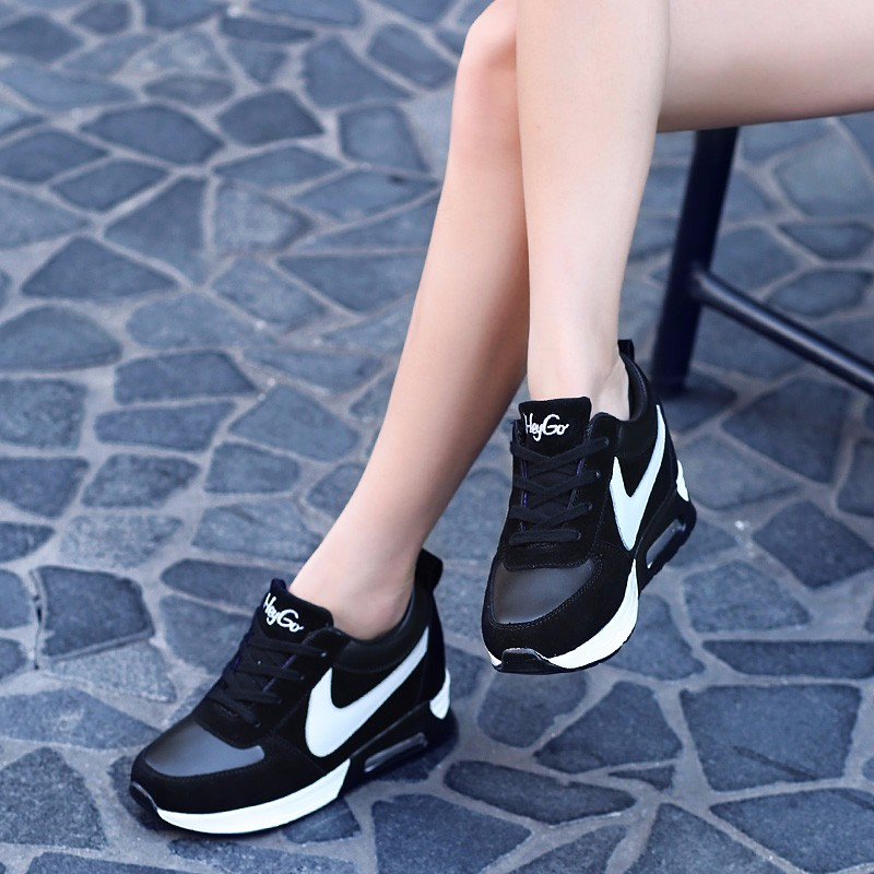 Height Increasing Casual Women Shoes 2016 Fashion Autumn PU Leather High Top Wedges Casual Shoes Lace Up Ladies Shoes YD139 (30)