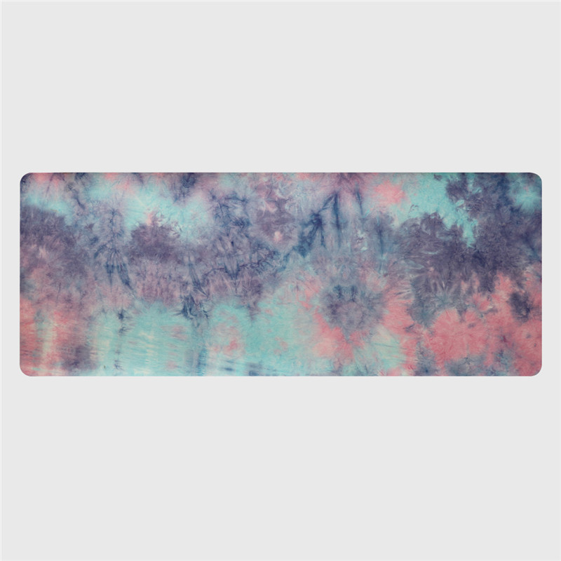 Hand-dyed Natural Suede TPE Yoga Mat Widened Anti-Slip Sweat Pilates Comfortable High Quality Fitness Pad 2