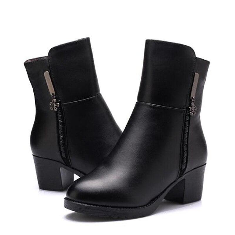 US $48.68 18% di SCONTO|ZXRYXGS stivali di Marca Delle Donne scarpe Stivali Invernali 2019 di Nuovo Modo di Scarpe di Lana Caldo Inverno Neve Stivali