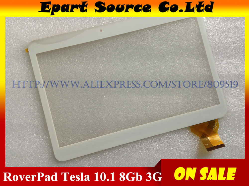 A+ New RoverPad Tesla 10.1 3G Tablet Capacitive touch screen panel Digitizer Glass Sensor replacement