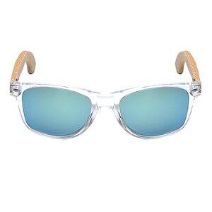 Image 2 - BOBO BIRD Handmade Polarized Sunglasses Women Men With Colorful Lens Transparent Plastic Frame Bamboo Legs Fashion Spectacles