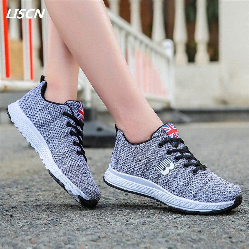 2018 Women Casual Shoes Sneakers Air Mesh Tenis Feminino Fashion Summer Ladies Casual Shoes Women Lace-Up Footwear Shoes