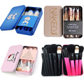 7/12pcs Powder Foundation Blusher Eyeliner Cosmetic Brush Set Pincel maquiagem Pink Blue Cartoon Cat NK3 Makeup Brushes Kit Tool