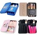 7/12pcs Powder Foundation Blusher Eyeliner Cosmetic Brush Set Pincel maquiagem Pink Blue Cartoon Cat NK3 Makeup Brushes Kit Tool