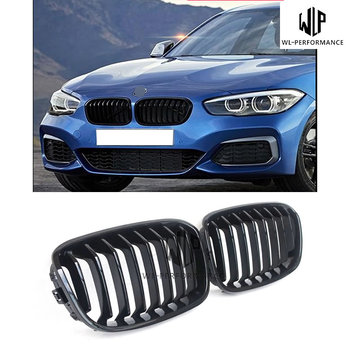 F20 1 Pair ABS Car Styling Front Gloss Black Racing Grilles For BMW 1 Series F20 Car Body Kit 12-16 image
