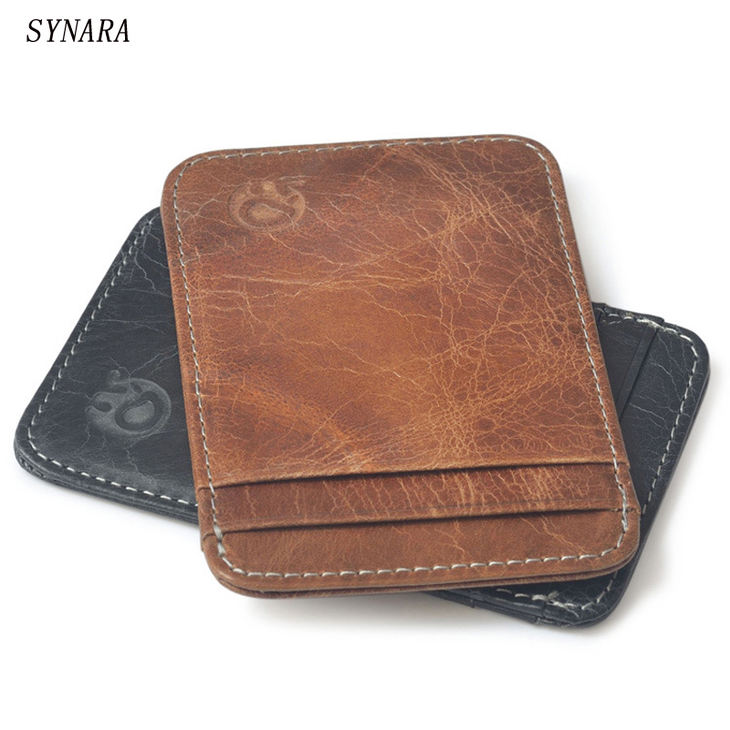 men genuine leather Simple ID holder sets card package Wallet door clip card holder Credit Card hot sale 2015 harrms famous brand men s leather wallet with credit card holder in dollar price and free shipping