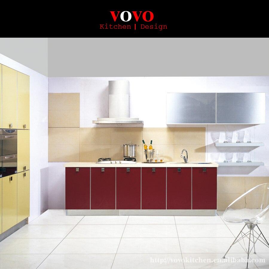 rojo colorido moderno mueble de cocina