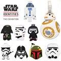 1 PC Etiquetas de Bagagem Sacos de Viagem Acessórios Clássico Encantador Dos Desenhos Animados do Filme de Star Wars Stormtrooper & Black Knight Nome Mala PVC