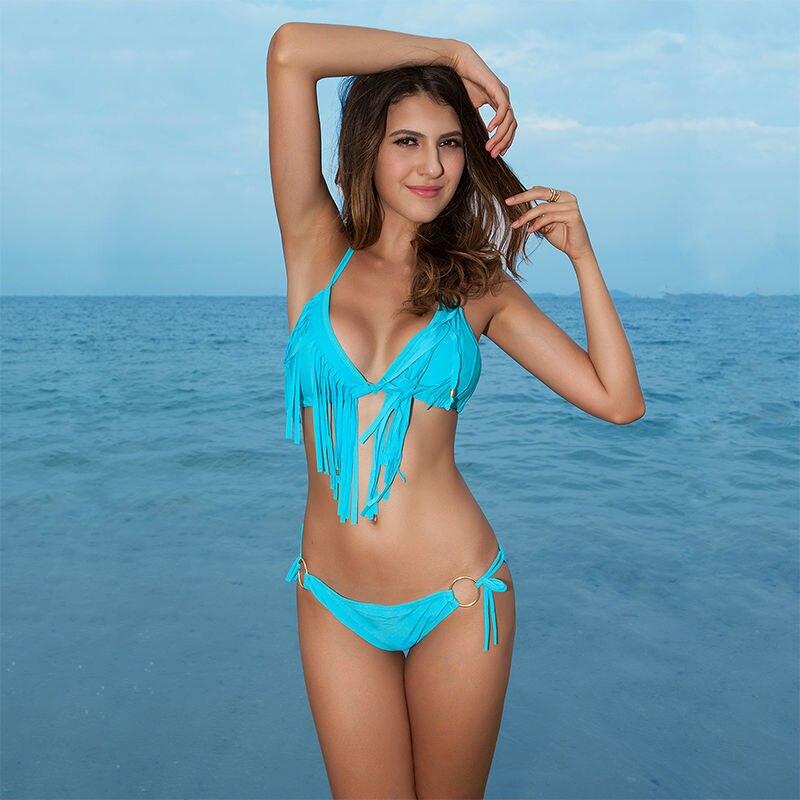 Costumi da bagno Triangle Woman Swimsuit New Womens Swim wear Fringe ...