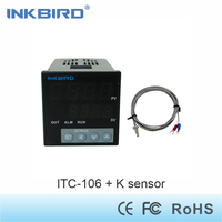 Inkbird F C Display PID Temperature Controller Thermostat ITC 106RL With K Sensor Relay Output AC