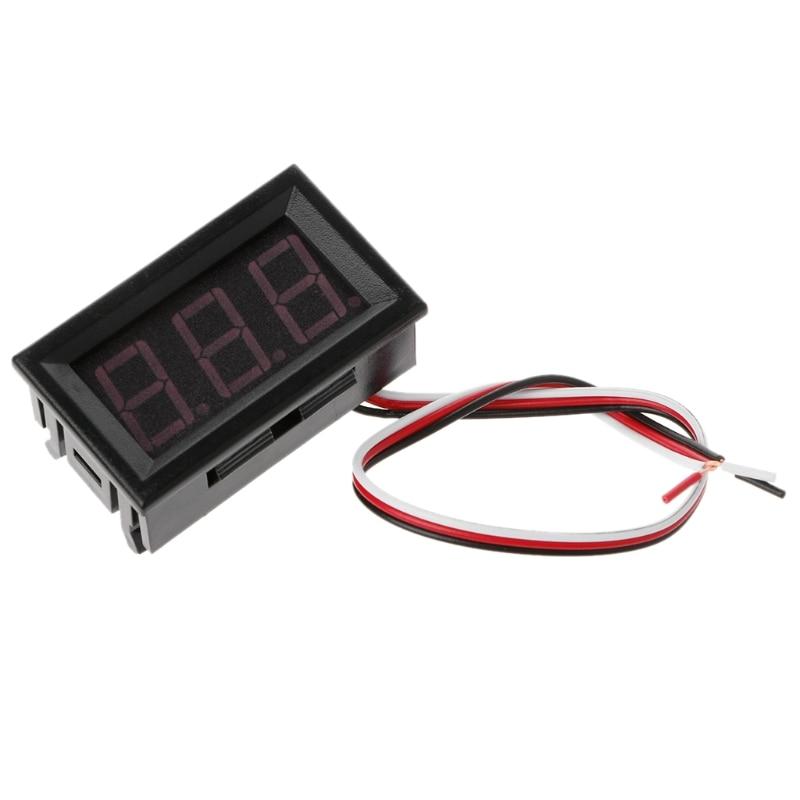 1Pc Mini Red LED Display Panel Meter Digital Voltmeter DC 0V-100V