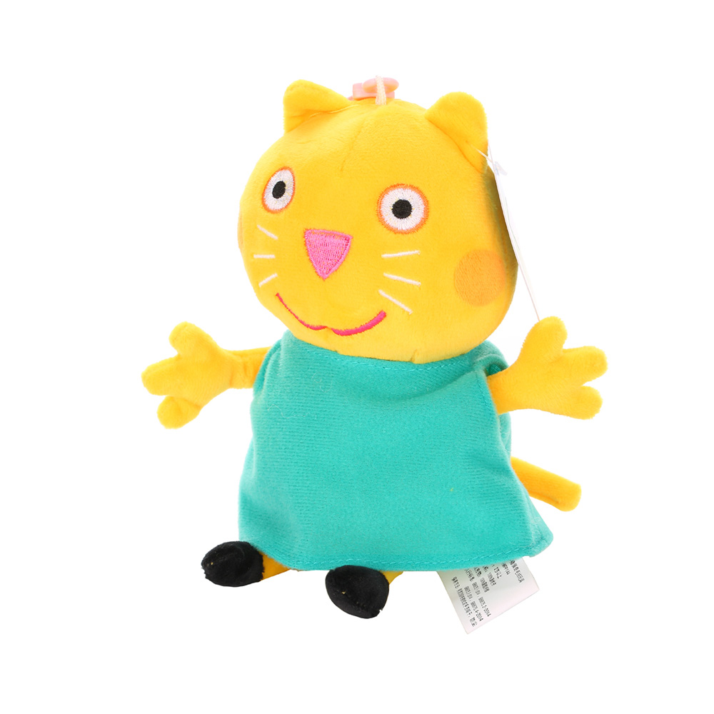 Оригинальные 19 см Свинка Пеппа Джордж Животные Мягкие плюшевые игрушки мультфильм семья друг свинка вечерние куклы для девочек детские подарки на день рождения - Цвет: F