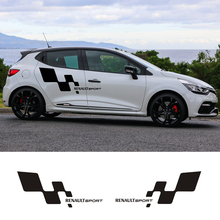 free shipping 2 PC racing Gradient side stripe graphic Vinyl sticker for renault clio R.S campus