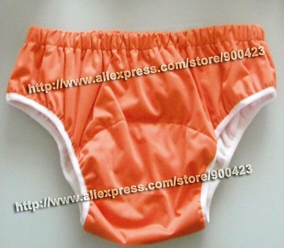 4 цвета на выбор, водонепроницаемые тканевые подгузники для взрослых и детей постарше, подгузники, подгузники для взрослых XS s m l - Цвет: orange