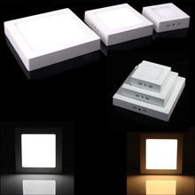 Free Shipping 1pcs/lot Surface Mounted 6W/12W/18W LED Panel Light With Super Bright SMD2835 AC85~265V Modern LED Ceiling Lights free shipping led panel light 300 600mm 36w led ceiling light ac85 265v