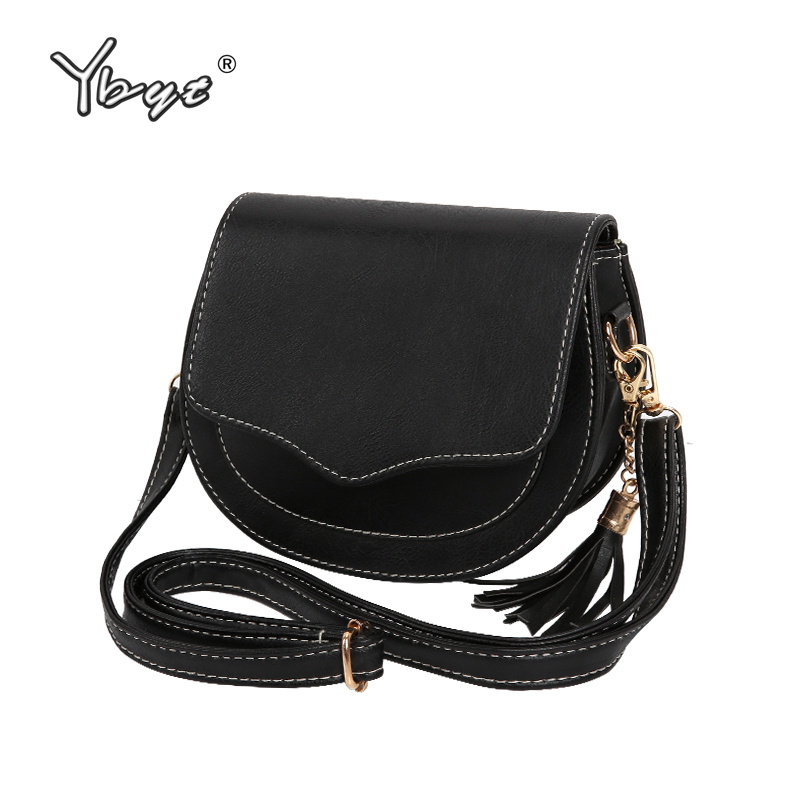 YBYT brand 2017 new fashion flap tassel handbag hotsale women shopping purse lady satchel joker shoulder messenger crossbody bag