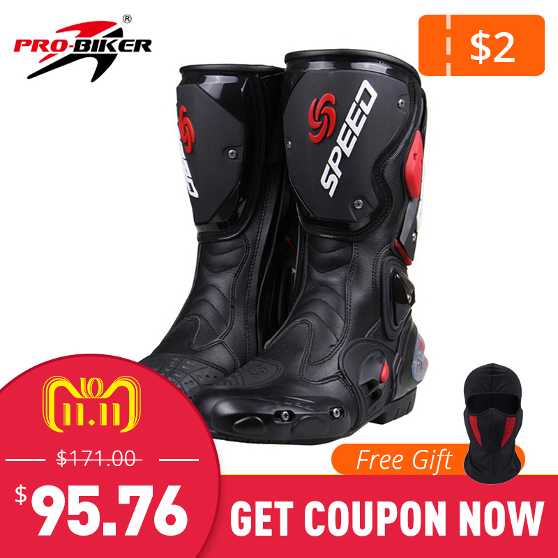 PRO-BIKER SPEED BIKERS Motorcycle Boots Moto Racing Motocross Off-Road Motorbike Motorcycle Shoes Botas Moto Botas Riding Boots scoyco camo motorcycle biker boots stivali botas moto motosiklet bot mens shoes motociclista bottes casual city moto shoes