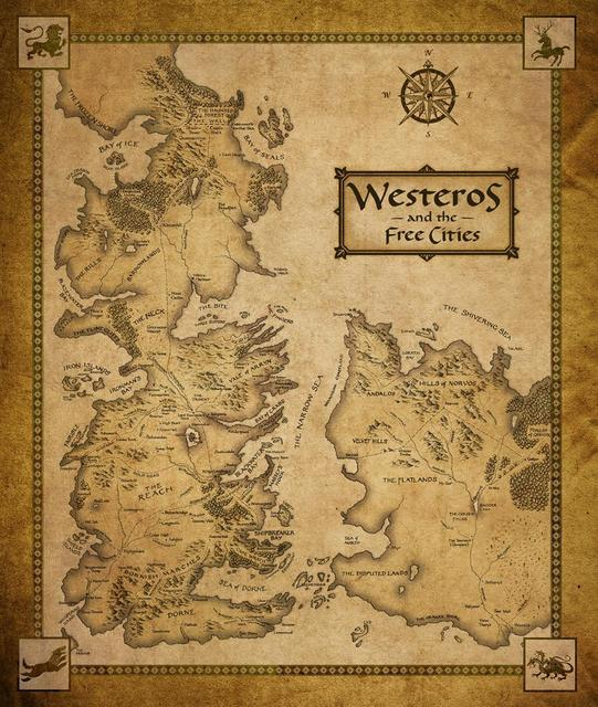 Canvas Game Of Thrones Poster – Westeros