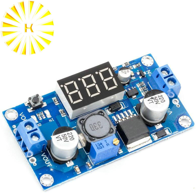 <font><b>LM2596</b></font> Adjustable Voltage Regulated Power Supply Converter DC-DC Step Down Module <font><b>12v</b></font> to 5v, 24v to <font><b>12v</b></font> Buck Voltmeter image