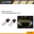 2pcs Xenon White P13W 15 LED Bulbs Fog Daytime Running Lights DRL Lamps For Audi A4 Quattro B8 S4 Q5