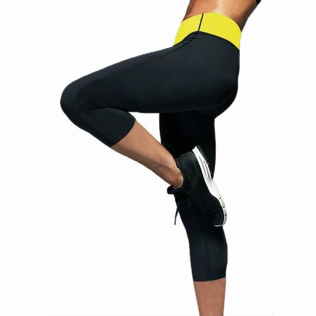 c87202fb2a Weight Loss Slimming Body Shapers Yoga Sports Capri Pants Thermo Fitness  Stretch Sweat Sauna Neoprene Body Leggings