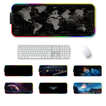 Large LED RGB Gaming Mouse Pad Overwatch xxl Desk Keyboard Mat USB Lighting Computer Mouse Pad World Map Gamer for LOL Dota