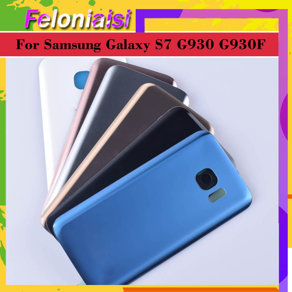 Original For Samsung Galaxy S7 G930 G930F G930FD SM-G390F Housing Battery Cover Back Cover Case Rear Door Chassis image