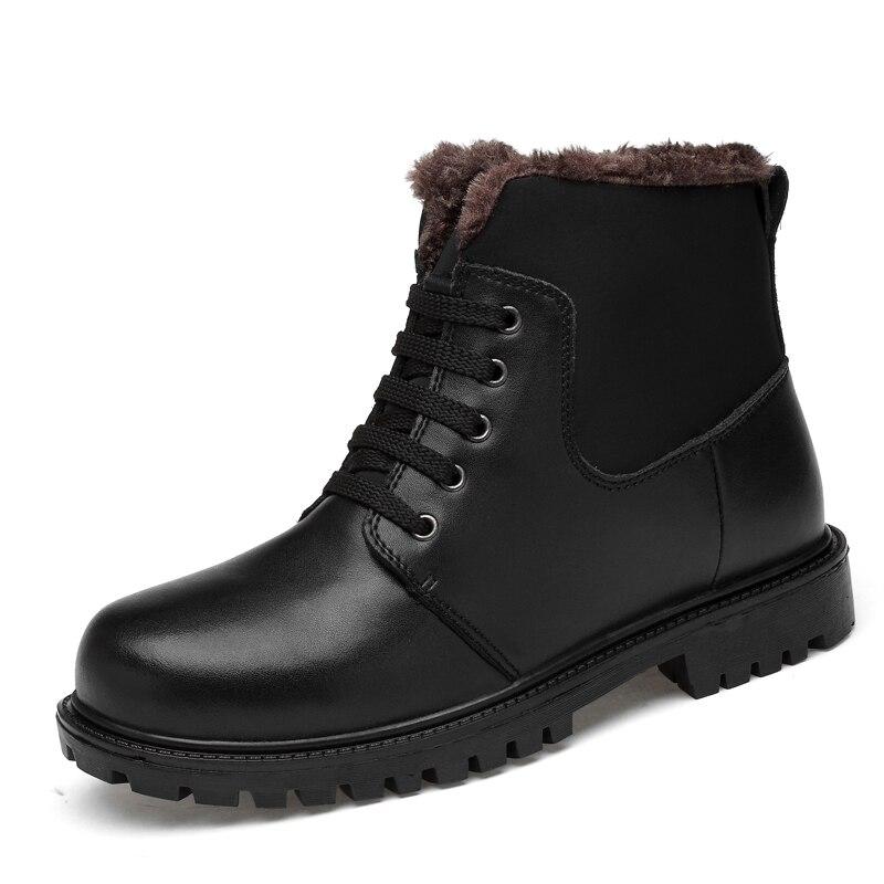 Botas Pelúcia Casuais Homens Tornozelo Sapatos Dividir Couro Inverno Neve Manter De Preto Qualidade azul Alta Com Quentes Fahsion SIwcqwR7H