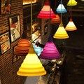 Moderno Pingente Luzes Coloridas de Silicone Dobrável/Folding Pingente Lâmpadas E27 Criativo & Moda iluminação Da Decoração para Casa/Bar