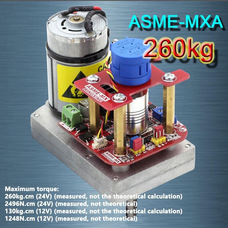Nouveau ASME-MXA Haute-puissance Haute-couple Direction Assistée Vitesse MAX 260Kg. cm, 0.12 s-0.24 s/60 Degrés DC 12-24 V pour Robot Mécanique Bras