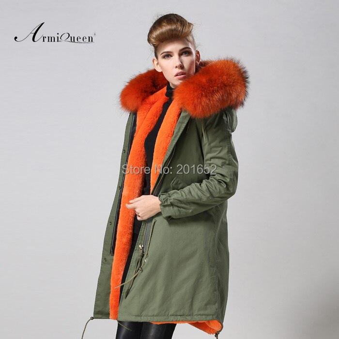 Women Winter Fashion Coat Parka Warm Faux Fur Long Sleeve Hooded Jacket Overcoat raccoon collar long coat