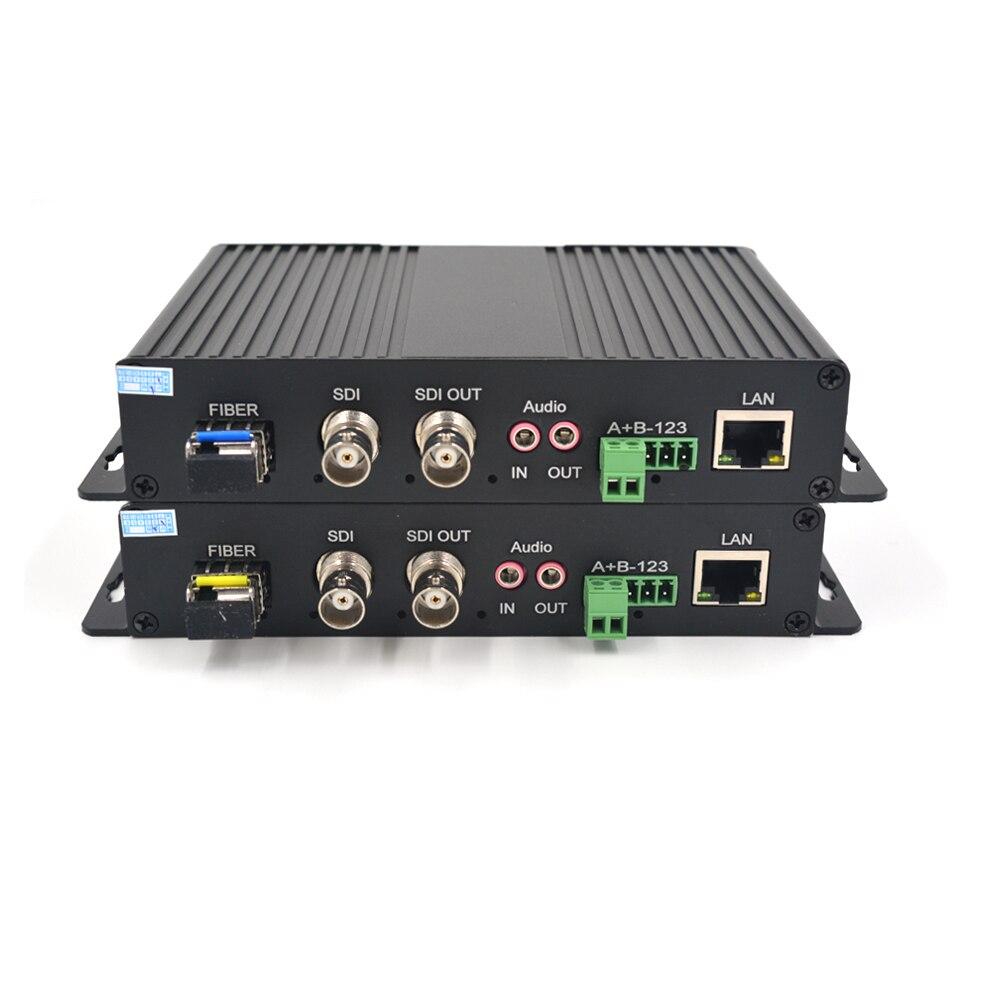 Высокое качество HD SDI видео аудио данных Ethernet 1310/1550 Волоконно Оптические медиаконвертеры Tx и Rx для HD SDI CCTV