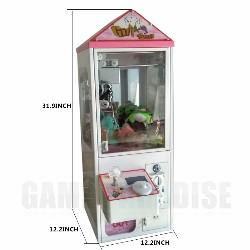 Coin Operated Mini Metal Case  bartop Arcade Claw Crane Machine candy toy catcher For Sale 5 year warranty 1