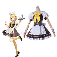 Cafiona 2018 Newest VOCALOID Coffee Sister Cosplay Costume Lovely Servant Sets Girls Summer Dress
