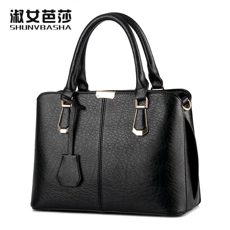 SNBS 100% Genuine leather Women handbags 2017 New Female Korean stereotypes mode