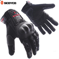 Free Shipping Scoyco Sports Racing Motorcycle Gloves Full Finger Guantes Best To Protect Knuckle Of Cyclist