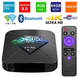 X10 PRO Android 9.0 Smart TV BOX Amlogic S905X2 Quad Core 4GB RAM 64GB ROM BT4.0 USB3.0 2.4G/5G Dual WIFI 3D 4K HDR Set Top Box