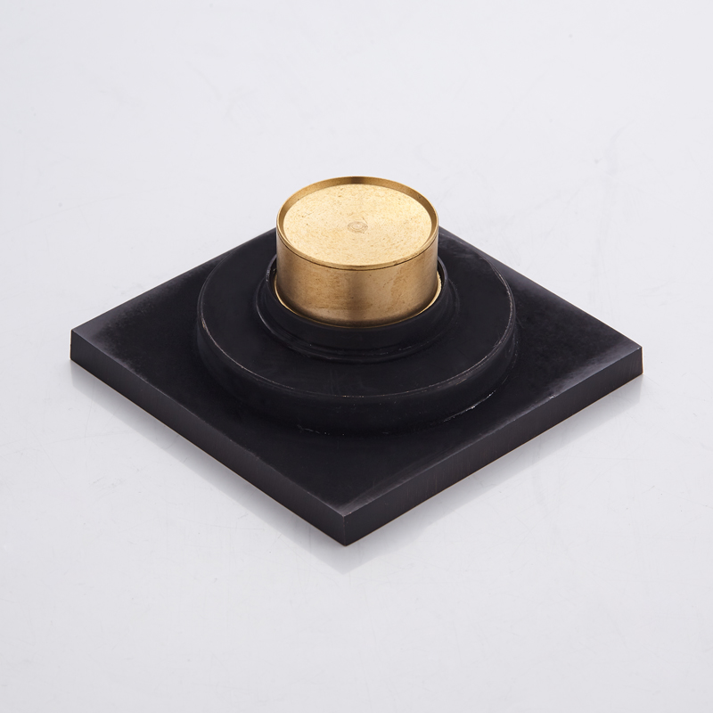 Floor Drain Black Brass Tile Insert Bathroom Shower Floor Drainer Anti odor Cover Square Bathtub Drain Strainer Waste Grate in Drains from Home Improvement