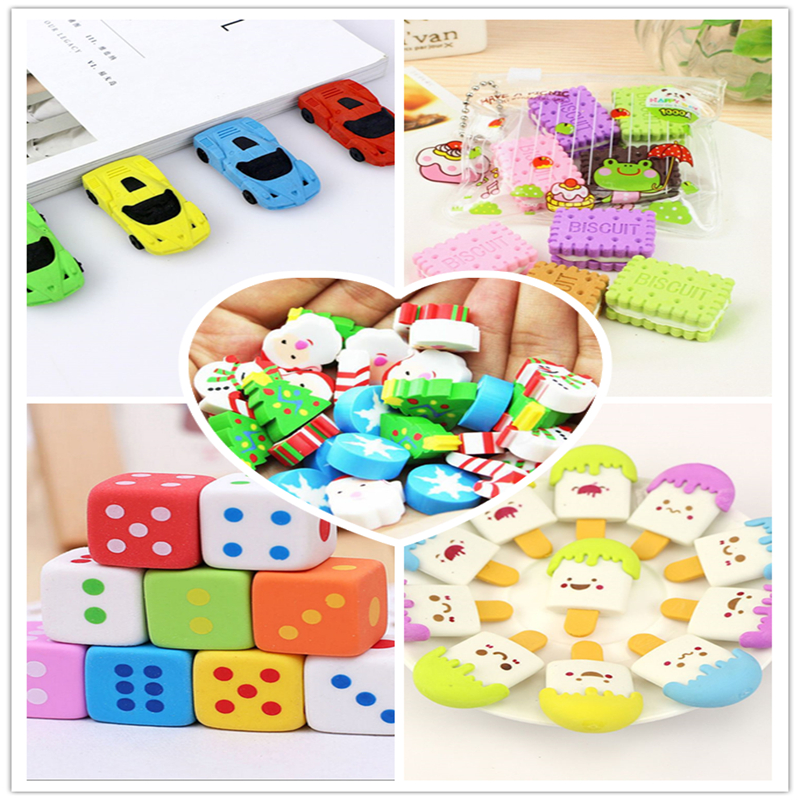 Limit Shows Available Cartoon Cute Creative Rubber Eraser  School Supplies Office Stationery Novelty Pencil Correction Supplies