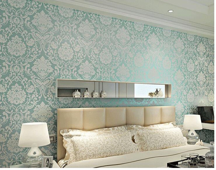 papel de parede 3d stereoscopic floral vintage bedroom wallpaper ...
