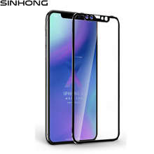 ФОТО alloy edge tempered glass full cover for iphone x iphonex screen protector 9h 3d full coverage protective film aluminum frame